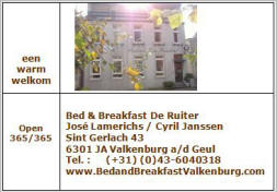 Bed & Breakfast De Ruiter (+31) (0)43-6040318